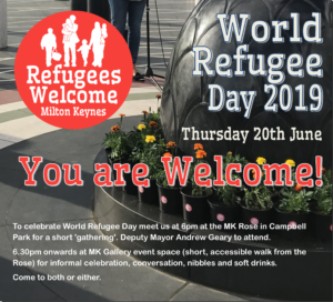 Join Us for World Refugee Day in MK 20th June 2019